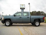 2009 Blue Granite Metallic Chevrolet Silverado 1500 Crew Cab 4x4 #13176161