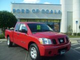 2007 Red Alert Nissan Titan XE King Cab #1314931