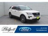 2019 White Platinum Ford Explorer Sport 4WD #132109560