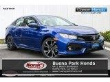 2019 Agean Blue Metallic Honda Civic Sport Hatchback #132109550