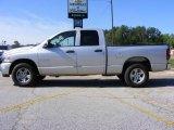2008 Bright Silver Metallic Dodge Ram 1500 Big Horn Edition Quad Cab #13176245