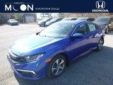 2019 Agean Blue Metallic Honda Civic LX Sedan #132129003
