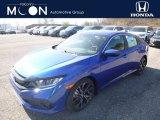 2019 Agean Blue Metallic Honda Civic Sport Sedan #132129002