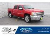 2012 Victory Red Chevrolet Silverado 1500 LT Crew Cab #132156044