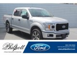 2019 Ingot Silver Ford F150 STX SuperCrew 4x4 #132202800