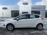 White Platinum Ford Fiesta in 2019