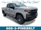 2019 Silver Ice Metallic Chevrolet Silverado 1500 Custom Z71 Trail Boss Double Cab 4WD #132245511