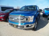 2019 Velocity Blue Ford F150 XLT SuperCab 4x4 #132294117
