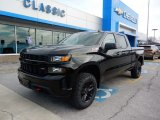 2019 Black Chevrolet Silverado 1500 Custom Z71 Trail Boss Crew Cab 4WD #132294245