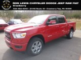 2019 Flame Red Ram 1500 Big Horn Crew Cab 4x4 #132342106