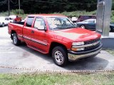 1999 Victory Red Chevrolet Silverado 1500 LS Regular Cab 4x4 #13222195