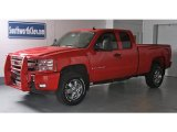 2008 Victory Red Chevrolet Silverado 1500 LT Extended Cab 4x4 #13243350