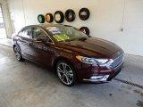 2017 Burgundy Velvet Ford Fusion Titanium AWD #132518902