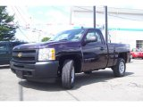 2009 Dark Cherry Red Metallic Chevrolet Silverado 1500 Regular Cab 4x4 #13224993