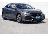 2019 Polished Metal Metallic Honda Civic LX Hatchback #132552104