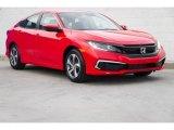2019 Rallye Red Honda Civic LX Sedan #132552102