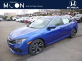 2019 Agean Blue Metallic Honda Civic Sport Sedan #132581301
