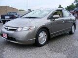 2007 Galaxy Gray Metallic Honda Civic Hybrid Sedan #13233984