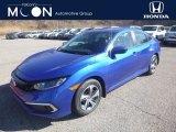 2019 Agean Blue Metallic Honda Civic LX Sedan #132637682
