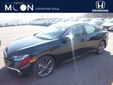 2019 Crystal Black Pearl Honda Civic EX Sedan #132637678