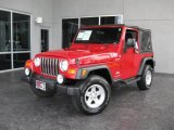 2006 Flame Red Jeep Wrangler Sport 4x4 #13223925