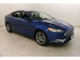 2017 Lightning Blue Ford Fusion S #132662001