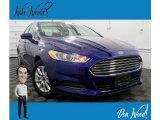 2016 Deep Impact Blue Metallic Ford Fusion S #132661964