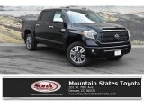 2019 Midnight Black Metallic Toyota Tundra Platinum CrewMax 4x4 #132725221