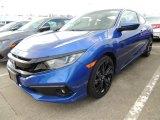 2019 Agean Blue Metallic Honda Civic Sport Coupe #132743296