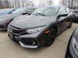 2019 Polished Metal Metallic Honda Civic EX Hatchback #132757871