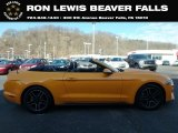 2018 Orange Fury Ford Mustang EcoBoost Premium Convertible #132776857