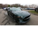 Dark Highland Green Ford Mustang in 2019