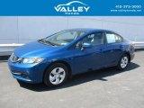 2015 Dyno Blue Pearl Honda Civic LX Sedan #132902458
