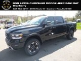 2019 Diamond Black Crystal Pearl Ram 1500 Rebel Crew Cab 4x4 #132993179