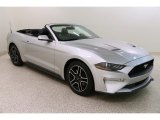 2018 Ingot Silver Ford Mustang EcoBoost Premium Convertible #132993456
