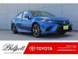 2019 Blue Streak Metallic Toyota Camry SE #133078532