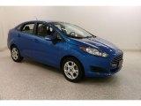 2015 Blue Candy Metallic Ford Fiesta SE Sedan #133108374