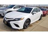 2019 Super White Toyota Camry SE #133146669