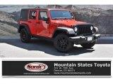 2017 Firecracker Red Jeep Wrangler Unlimited Willys Wheeler 4x4 #133166237