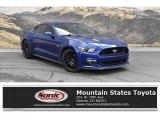 2016 Deep Impact Blue Metallic Ford Mustang GT Premium Coupe #133225666