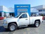2013 Silver Ice Metallic Chevrolet Silverado 1500 Work Truck Regular Cab 4x4 #133225790