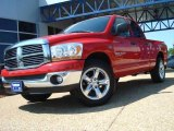 2006 Flame Red Dodge Ram 1500 SLT Quad Cab #13300268