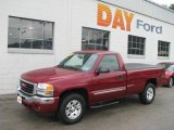 2005 Sport Red Metallic GMC Sierra 1500 SLE Regular Cab 4x4 #13300578