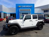 2017 Bright White Jeep Wrangler Unlimited Willys Wheeler 4x4 #133399201