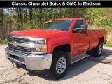 2017 Red Hot Chevrolet Silverado 2500HD Work Truck Regular Cab 4x4 #133399299