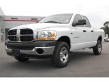 2006 Bright White Dodge Ram 1500 ST Quad Cab 4x4 #13311933