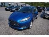 2019 Lightning Blue Ford Fiesta SE Sedan #133439323