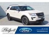 2019 White Platinum Ford Explorer XLT #133483704