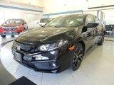 2019 Crystal Black Pearl Honda Civic Sport Sedan #133554046