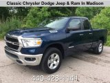 2019 Patriot Blue Pearl Ram 1500 Big Horn Quad Cab 4x4 #133766260